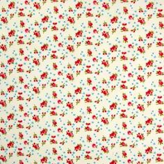 Roses and Bows Cotton Sky 112cm