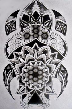 Тату Turtle в стиле Блэкворк из категории Животные #maoritattoosdesigns