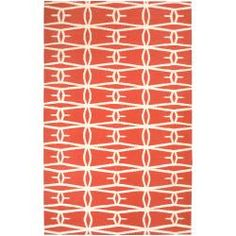 @Overstock - Hand-woven in wool, this beautiful rug features vibrant colors of poppy red, winter white. With extravagant details designed by Jill Rosenwald, this rug is a perfect addition addition to any home.http://www.overstock.com/Home-Garden/Jill-Rosenwald-Hand-woven-Orange-Derze-Wool-Rug-8-x-11/6555343/product.html?CID=214117 Add to cart to see special price