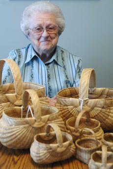 Jill PickettLeona Waddell has made many split white oak baskets, including those seen in f...