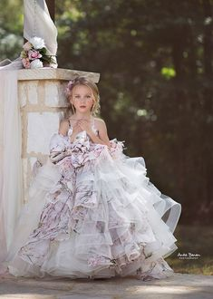 "Flourished Gown ""Flourished"" Gown, Anna Triant Couture Couture flower girl and special occasion dresses Little Girl Gowns, Gowns For Girls, Little Dresses, Little Girl Dresses, Girls Dresses, Flower Girl Dresses, Flower Girls, Première Communion, Bridesmaid Dresses"