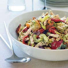Salad Recipes: For Dinner, Lunch Or Breakfast - Green Goddess Chicken Salad Wine Recipes, Cooking Recipes, Healthy Recipes, Soup Recipes, Healthy Soup, Recipes Dinner, Delicious Recipes, Yummy Food, Sour Cream