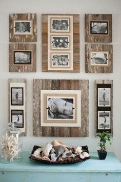 reclaimed wood 22 x 22 frame 8 x 10 photo