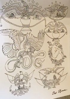 Traditional Flash, Traditional Tattoo Flash, Tattoos For Guys, Cool Tattoos, Antique Tattoo, Vintage Tattoo Design, Vintage Flash, Thai Tattoo, Tattoo Portfolio