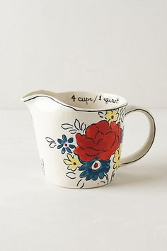 Flowerpatch Measuring Cup - anthropologie.com #anthrofave