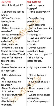 German for all Deutsch für alle: The customs