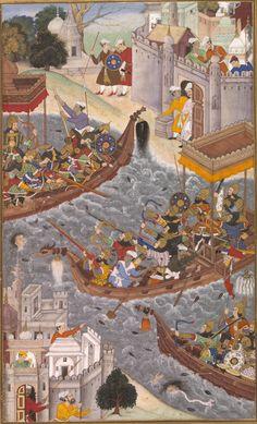 1565-battle_scene_with_boats_on_the_ganges-akbarnama