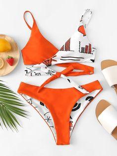 Shop Self Tie Wrap Top With High Waist Bikini Set online. SheIn offers Self Tie … Shop Self Tie Wrap Top With High Waist Bikini Set online. SheIn offers Self Tie Wrap Top With High Waist Bikini Set & more… Continue Reading → Bikini Swimwear, Bikini Set, Women's Bikinis, Bandeau Bikini, Bikini Girls, Bikini Outfits, Bikini Ready, Cute Bathing Suits, Cute Swimsuits
