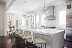 Modern light fixtures and kitchen