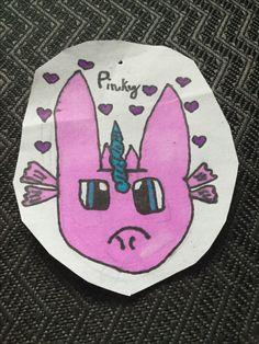 My OC Pinky! Idk i felt like drawing a horn so... i did xDDDDDDDDDDDDDDDD My Drawings, Horns, Felt, Horn, Crescent Roll, Felting, Felt Crafts