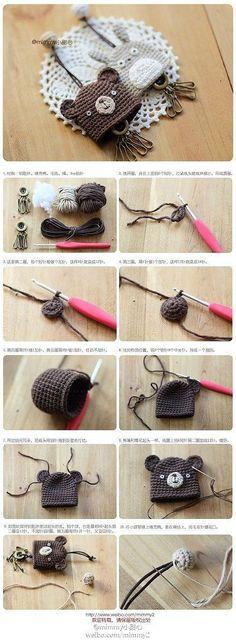 Chaveiro. Crochê. Llavero. Ganchillo - Crafting Para Férias