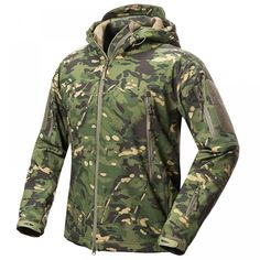 Cheap tactical fleece jackets, Buy Quality military camouflage jacket directly from China camouflage jackets men Suppliers: S.ARCHON New Soft Shell Military Camouflage Jackets Men Hooded Waterproof Tactical Fleece Jacket Winter Warm Army Outerwear Coat Camo Hunting Clothes, Hunting Jackets, Hunting Gear, Military Jackets, Military Gear, Military Style, Mens Outdoor Jackets, Outdoor Men, Camouflage Jacket