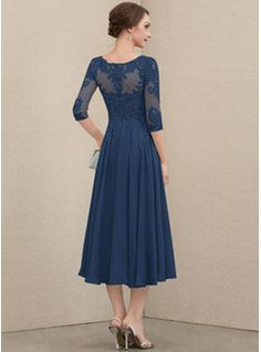 Mob Dresses, Tea Length Dresses, Nice Dresses, Beautiful Dresses, Mother Of The Bride Dresses Long, Mother Of Bride Outfits, Vestidos Mob, Bride Groom Dress, Midi Dress With Sleeves