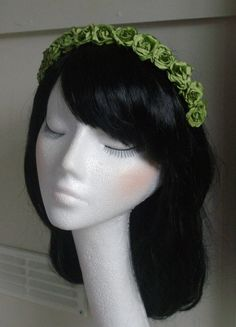Rose Flower Floral Garland Headband Hair Band Crown Bridal Wedding Holiday