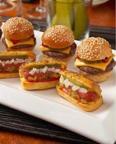 Mini hambúrgueres.