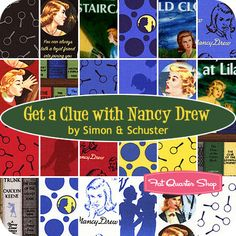 Get a Clue with Nancy Drew Yardage Simon & Schuster for Moda Fabrics - Fat Quarter Shop YES! loved Nancy Drew as a kid...pretty sure I would still love reading them :D