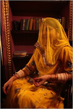 young rajput woman in aura of yellow. this was the time when i felt 'what is riot of colours', having privilege of attending 'n capturing a formal ring ceremony in bikaner's royal family. #nevilvaveri