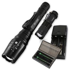 Introducing EcoGear FX Professional Grade LED Flashlight Kit TK120X Our Brightest Tactical LED Flashlight with HighLumen Output ZOOM Feature Water Resistant Design 5 Light Modes and Rechargeable Batteries. Great product and follow us for more updates!