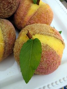 Little Peach Cakes | Big Red Kitchen - a regular gathering of distinguished guests