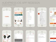 AliExpress design team redesign the iOS APP, All project more than 80 pages, See all screens in full sizes in the attachment.  BTW available on the App Store right now: https://itunes.apple.com/us/...