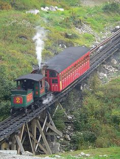 Mount Washington Cog Railroad this one scared the heck out of me!