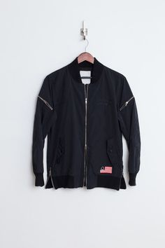 Profound Aesthetic Fighter Jet Bomber Jacket: Black  http://profoundco.com/collections/jackets/products/fighter-jet-bomber-jacket-black