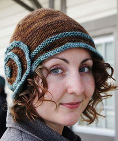 Escargot Hat (with free knit pattern) - I just love this pattern - looks like something you'd see on Boardwalk Empire.