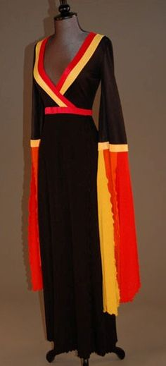 Jersey evening gown, early 1970s ~ Giorgio di Sant'Angelo