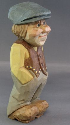 hand carved wood Scandinavian caricature nordic ...