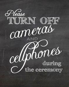 Instant Download Unplugged Ceremony Turn Off by ErinCrouchStudio