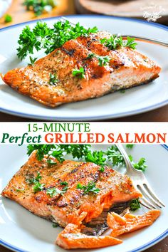 A Perfect Grilled Salmon recipe is an easy, healthy dinner idea! Salmon Recipes & Seafood Recipes & Healthy Dinner Recipes & Fish Recipes The post A Perfect Grilled Salmon recipe is an easy, healthy dinner idea! Salmo& appeared first on Diet. Best Fish Recipes, Tilapia Fish Recipes, Grilled Salmon Recipes, Grilled Salmon Marinade, Xmas Recipes, Fruit Recipes, Rice Recipes, Paleo Recipes, Crockpot Recipes