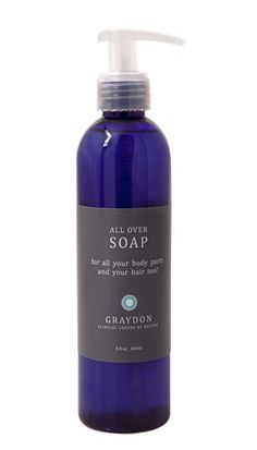 Graydon's All Over Soap & Shampoo. Wonderful unisex fragrance from the natural ingredients. Leaves your body feeling squeaky clean without stripping away your precious natural oils.