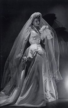 1939 André Durst, Balenciaga, Wedding Dress.