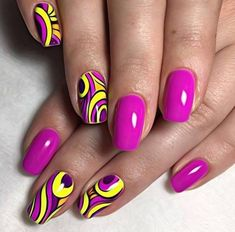 Nail art fashion is peek today. Endless variations styles and designs are occurred on nail art and g Neon Nail Art, Neon Nails, Love Nails, Pink Nails, Pretty Nails, My Nails, Manicure Nail Designs, Nail Manicure, Nail Art Designs