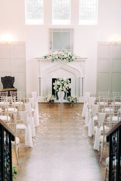 thicket priory light and airy room with ceremony decoration