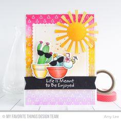 MFT Pure Innocence Fun in the Sun Die-namics, LLD Sweet Succulents Stamp Set & Die-namics, BB Penguins in Paradise Stamp Set & Die-namics, Die-namics Sunny Skies