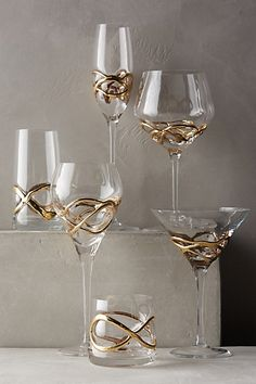 Glimmer wrapped glassware #anthroregistry http://rstyle.me/n/r3fhrnyg6