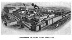 Studebaker factories in South Bend, c 1890.  See: History of the Studebaker Corporation By Albert Russel Erskine