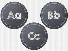 "Chalkboard word wall headers FREEBIE for you...  4"" circles... just laminate, cut out, and hang up!"