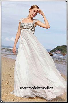 Evening Gown Dress  Abendmode Abendkleid Silber Grau  www.modekarusell.eu