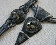 Комплекты украшений ручной работы. Комплект из кожи