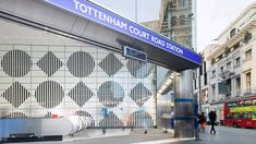 """Daniel Buren says Tottenham Court Road tube station artwork is """"a bubble of oxygen for the spirit"""" Wayfinding Signs, Signage, London Underground Stations, Daniel Buren, Underground Tube, Hidden Art, Liverpool Street, Oxford Street, Sign System"""