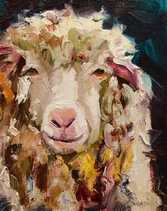Sheep Painting - Sheep Alert by Diane Whitehead