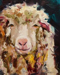 Sheep Painting - Sheep Alert by Diane Whitehead