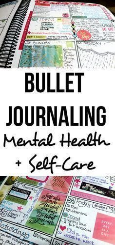 Bullet Journaling For Self-Care + Mental Health - Blessing Manifesting I'm using bullet journaling to keep track of my mental health and my self-care. I'm tracking my moods and my anxiety and depression. Journal Log, Journal Prompts, Journal Pages, Journal Ideas, Life Journal, Bullet Journal Banners, Bullet Journal Page, Bullet Journals, Art Journals