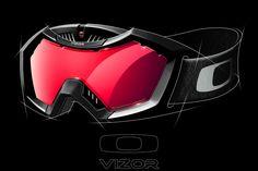 Vizor Snow Goggles on Behance Motocross Goggles, Motocross Bikes, Ski Goggles, Goggles Glasses, Sports Glasses, Armor Concept, Sketch Inspiration, Winter Sports, Headgear