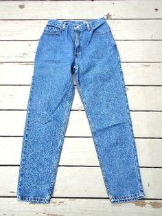 Levis 550 Jean Pants Sz 26 x 30 Hi Waist Vtg 80s Tapered Leg Relaxed Grunge