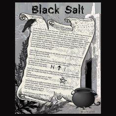 BLACK SALT Magick and Banishing Digital by MorganaMagickSpell