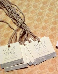 Simple And Pretty Furniture Tags By @gillygrey
