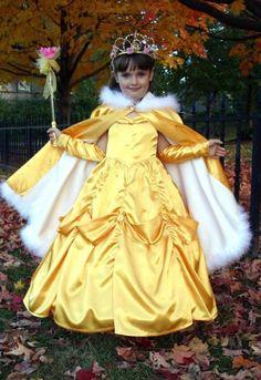 SPLENDIDA BELLE d'oro satinato Costume abito personalizzat